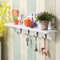 Creative Coat Rack Wall Decorative Hooks Wooden Hat Key Clothes Hook Wall Shelf Hanger Wall mounted Shelf Home Decoration Racks