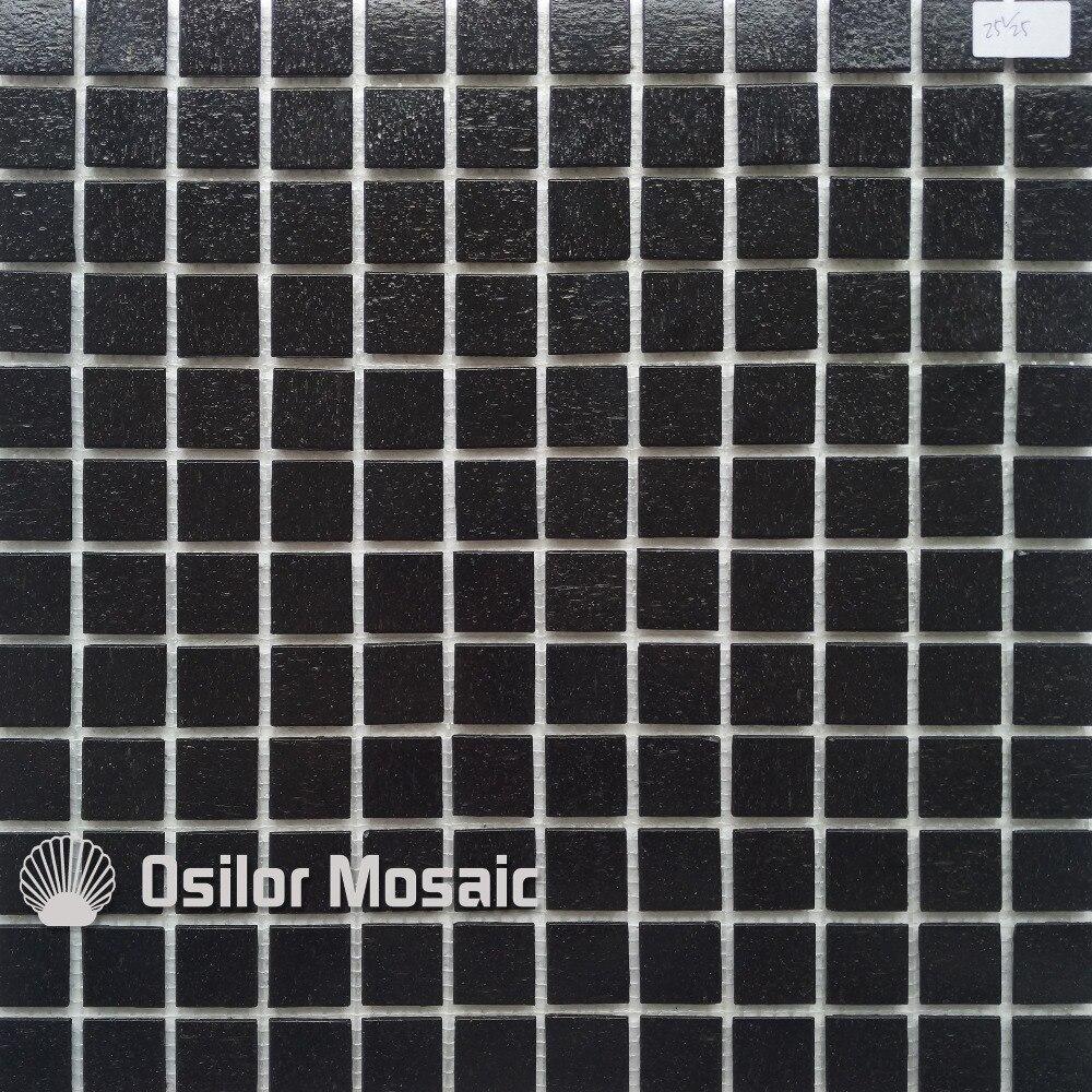 €293.51 |Livraison gratuite tuile de mosaïque en verre noir carrelage mural  carrelage pour salle de bain et cuisine carrelage de jardin-in Papiers ...