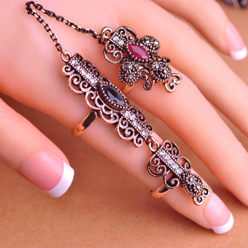 Newest Design Turkish Exquisite Mid Rings Fashion Vintage Turkish ...