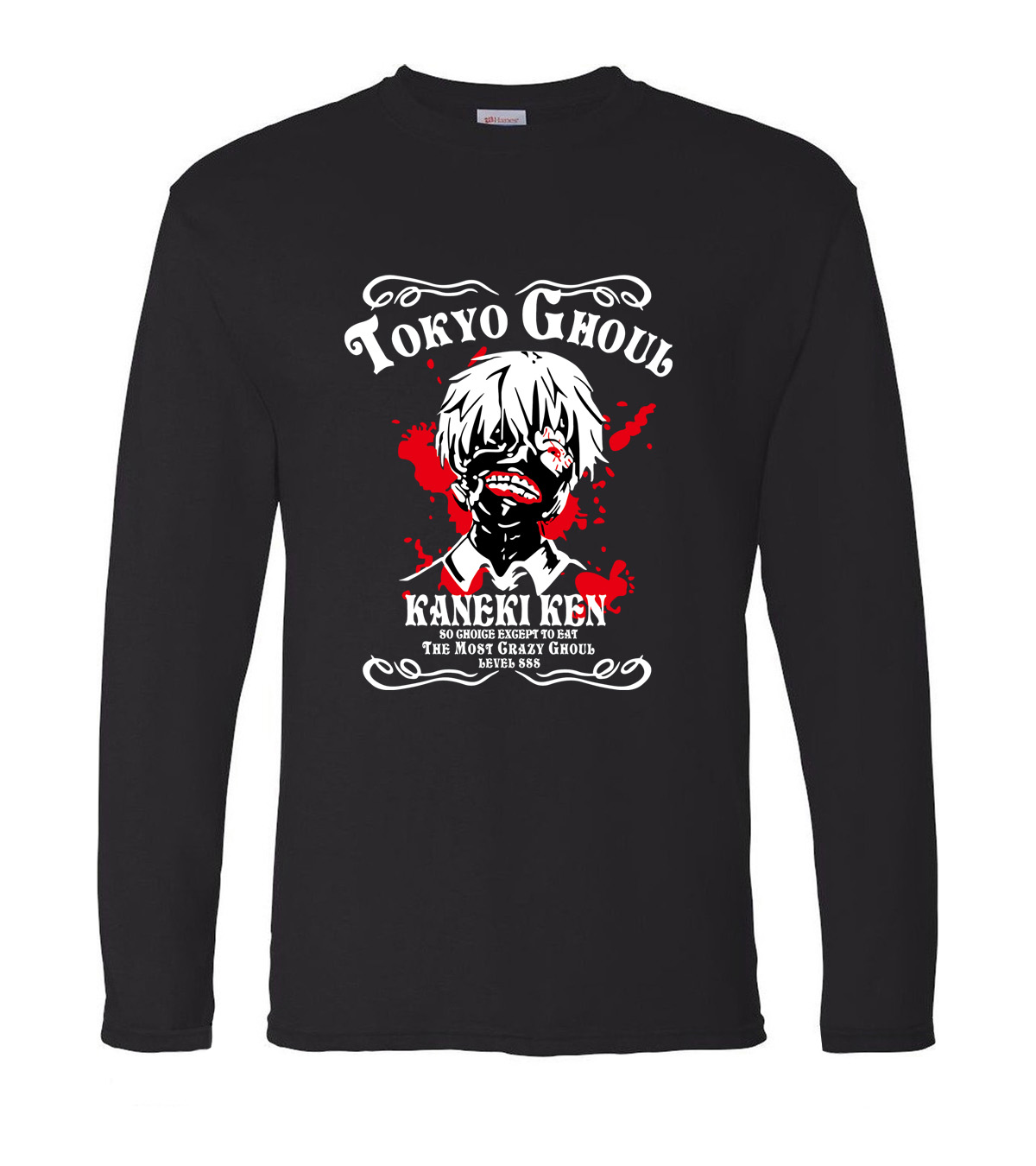 Anime Tokyo Ghoul Ken Kaneki Men t shirt 2019 new spring 100% cotton men's long sleeve o-neck T-shirts hip hop man top tees