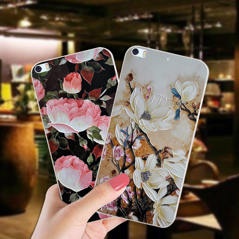 ShuiCaoRen Luxury Silicone Case For Philips Xenium X818 Pretty Flower TPU Phone Cover Bag For Philips X818 Cases