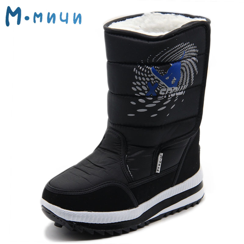 MMNUN Russian Famous Brand Winter Boots for Boys High Quality Children's Winter Shoes Kids Winter Boots Children Winter Boots