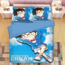 Detective Conan 3D bedding set  Duvet Covers Pillowcases anime comforter sets bedclothes bed linen