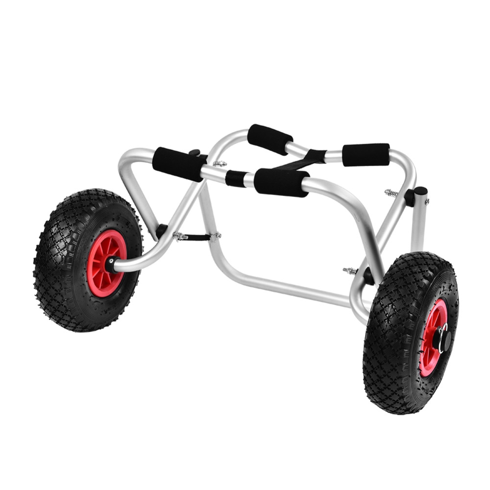 Kayak Trolley Lightweight Aluminium Alloy Canoe Carrier Transport Portable Trailer Cart Removable Wheel Rowing Boat Accessories