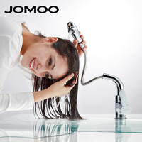 JOMOO Bathroom Basin Faucet Spray Pull Out Chrome Lavatory Sink Faucet Mixer Tap Brass Swivel Deck