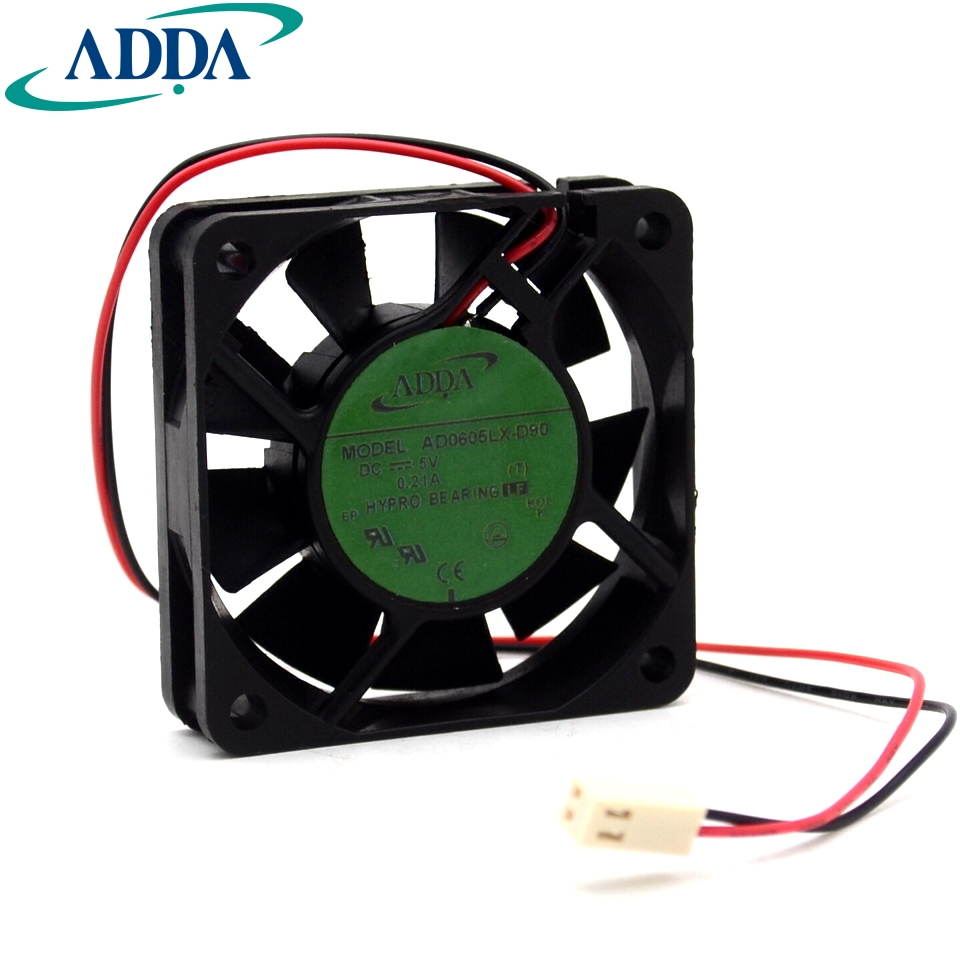 Adda Ad0605lx D90 T Dc 5v 021a 2 Wire Pin Connector 70mm Toshiba G7 Asd Wiring Diagram 60x60x15mm Server Square Cooling Fan For