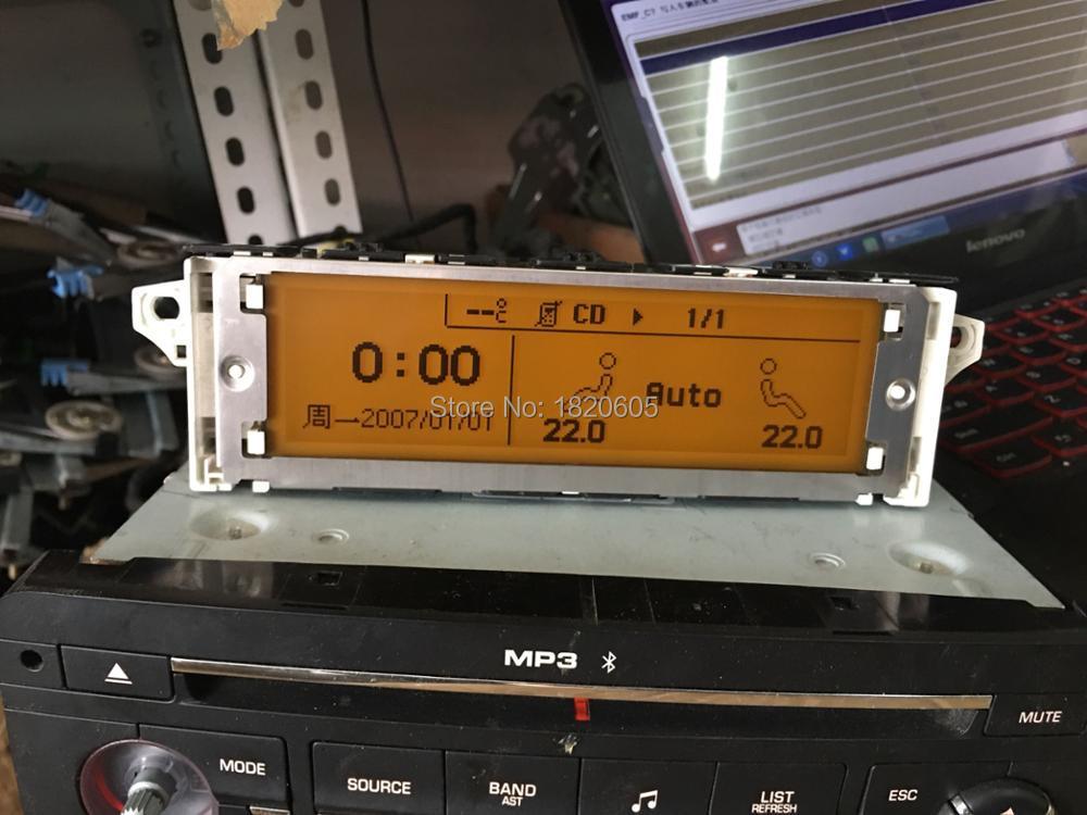 Écran Support USB Double-zone Air Bluetooth Jaune Affichage Moniteur 12pin pour Peugeot 307 407 408 pour citroen C4 c5
