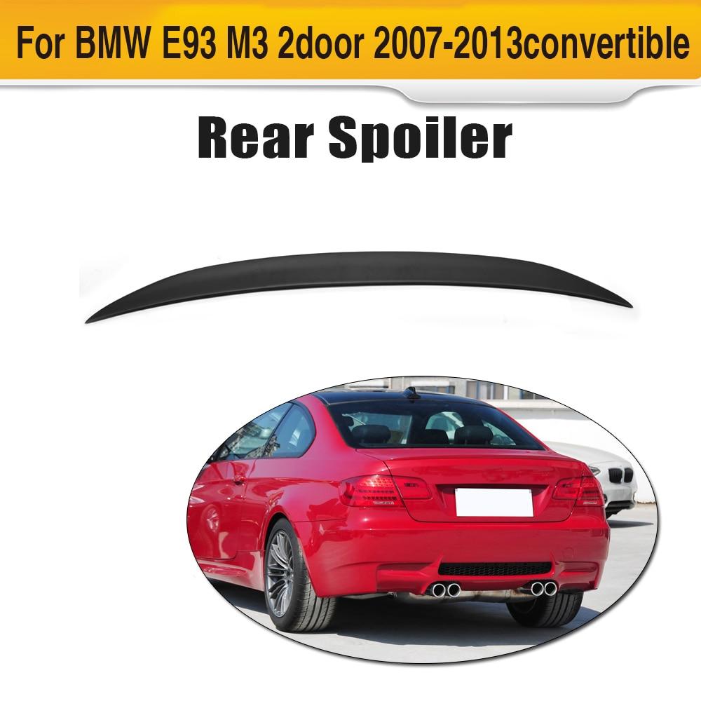 3 серии FRP Неокрашенный Черный праймер автомобиля задний багажник спойлер для BMW E93 купе M3 325i 328i 330i 335i 07-13