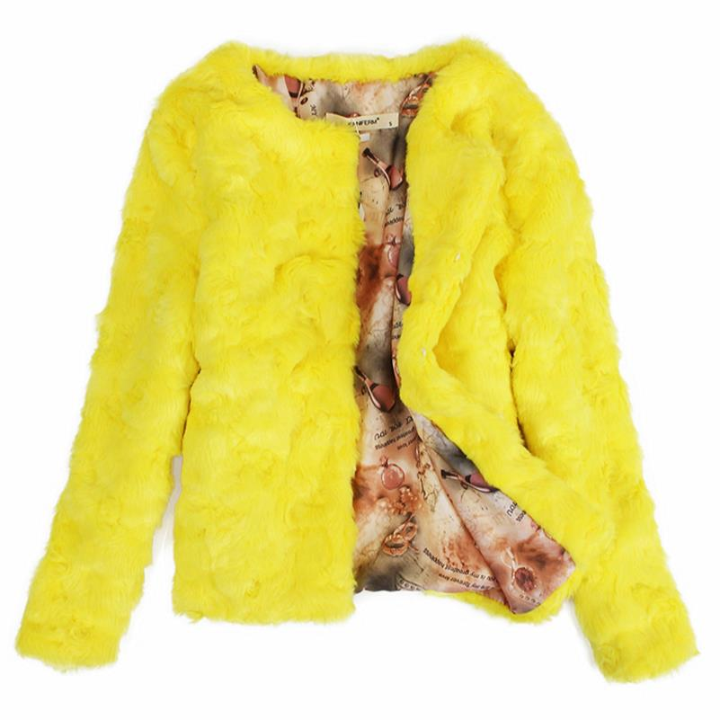 autumn and winter shor warm coat faux fur coat cotton long-sleeved women jacket