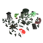 37Pcs 5cm Plastic Model Playset Toy Soldiers Action Figures Soldiers Army Men Army Sand Scene Model Sand Table Accessories