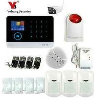YobangSecurity WIFI 3G WCDMA Alarm System Wireless Home Security Alarm APP Control Fire Smoke GAS Sensor