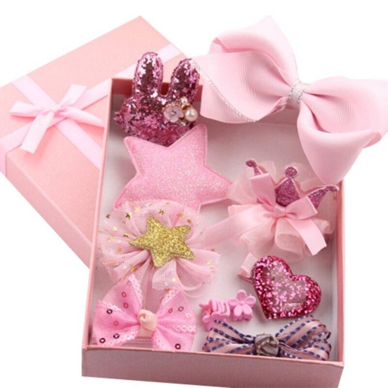 Princess Style Gift For Girls Kids Baby Toddler Flower Headband Hair Band Headwear Hair Accessories Set