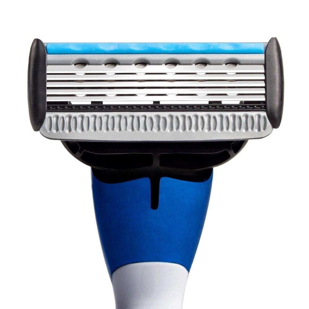 QShave Brand Blue Men Manual Shaving Razor Trimmer Blade Safety Blade made in USA Machine Shaver Straight Hair Removal Epilator 3
