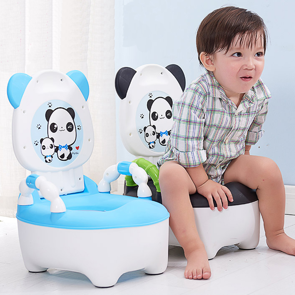 3 Color Portable Lovely Safety Toilet Kids Baby Infants Cartoon Panda Pattern Toilet Baby Potty Seat Toilet Trainer Seat