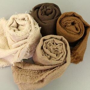 Image 4 - LMLAVEN, мерцающие женские хлопковые шарфы, большой размер