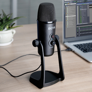 Image 5 - BOYA BY PM700 USB Condenser Microphone Desktop MIC for PC Computer Laptop Mac Interview Conferen Recording Video Podcast Live