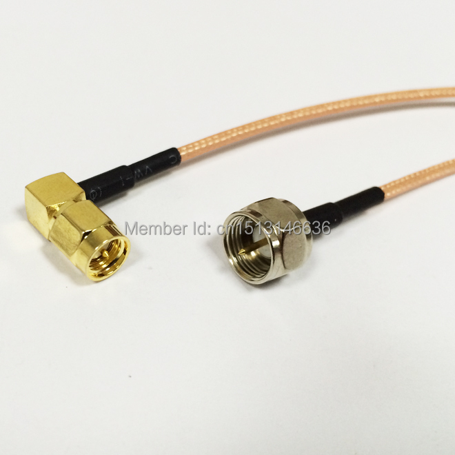 Wireless Router Cable SMA Male Plug Right Angle To F  Male Plug RG316 Coaxial Cable 15CM 6inch Pigtail