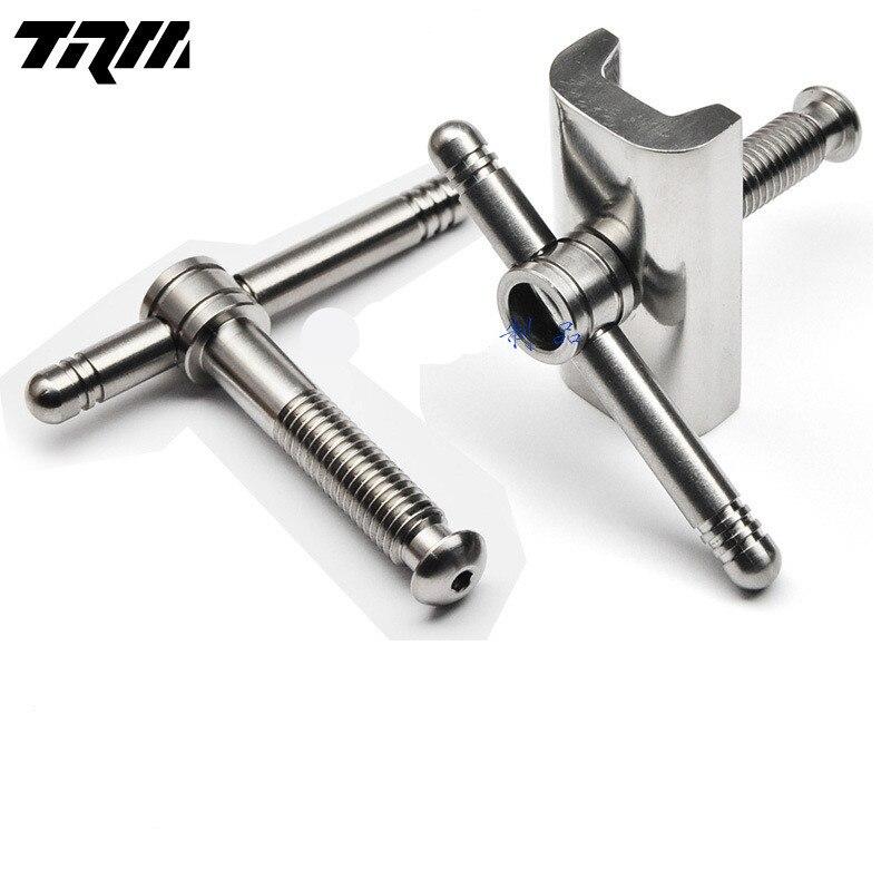 1 Pair Folding Bike Hinge Clamp Titanium C Buckle For Brompton Bike Hinge Clip Titanium Wrench Ultralight