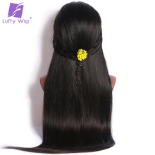 Brazilian Lace Front Human Hair Wigs With Baby Hair Silk Base Full Non Remy Straight Natural Color