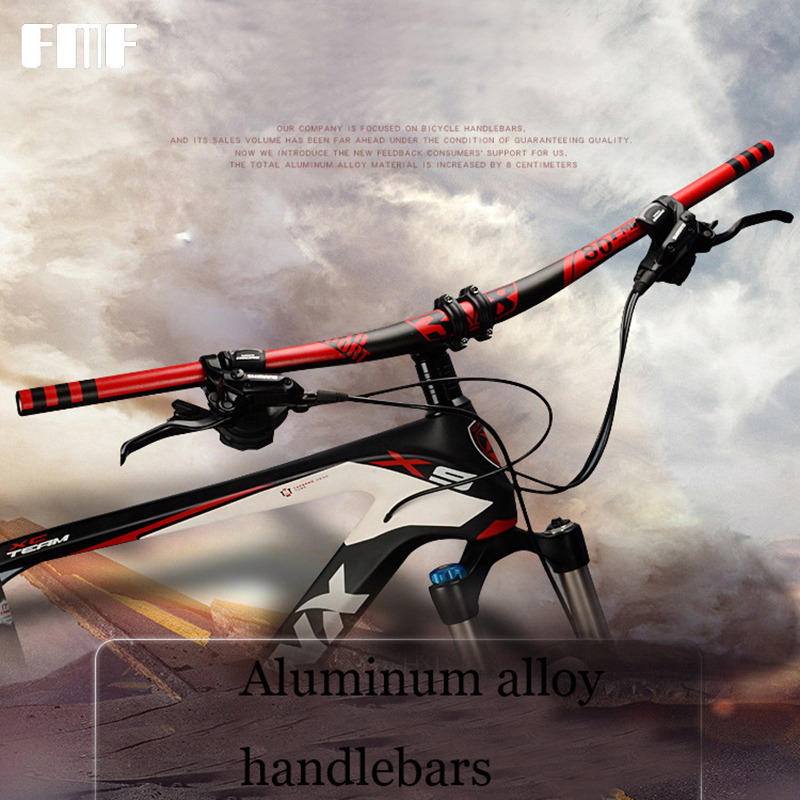 FMF Bike Lenker Aluminium legierung Fahrrad Downhill MTB lenker Ultraleicht 680/700/720/780 cm Anzug für 31,8 Bike Stem 22,2