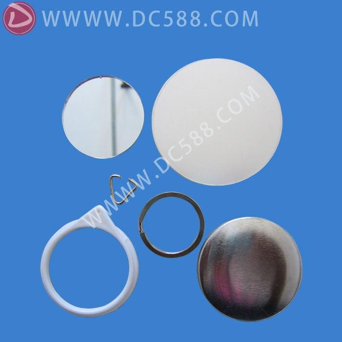 500 sets (44mm) spiegel keychain taste material, spiegel abzeichen material, fabrik direkt verkauf-in Button und Badge Teile aus Heim und Garten bei  Gruppe 2