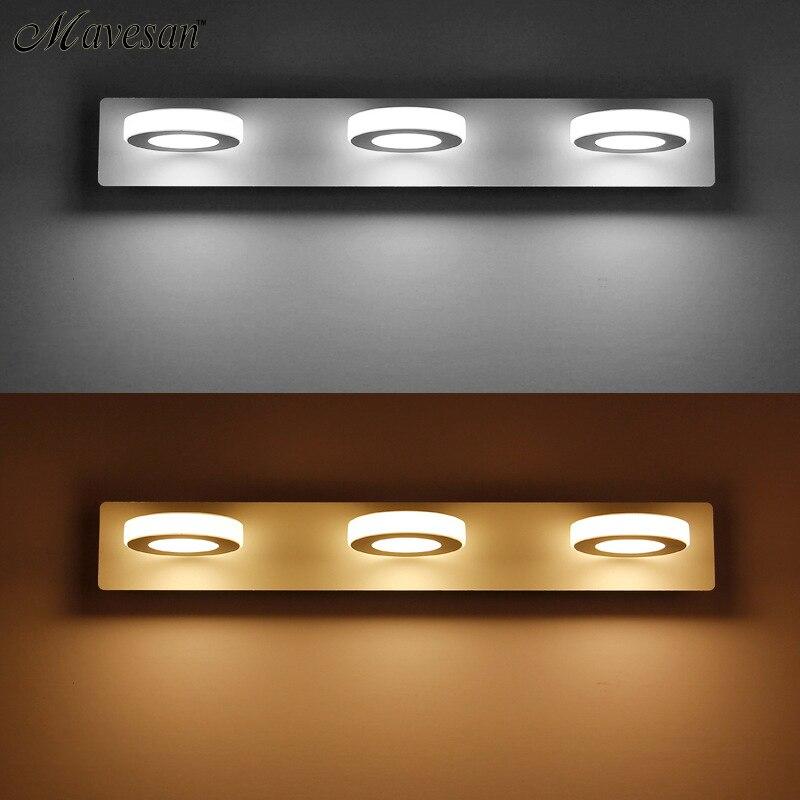 Hot Sale Bathroom LED Mirror Wall Lamp AC220V 110V Acrylic Mini Style Warm White