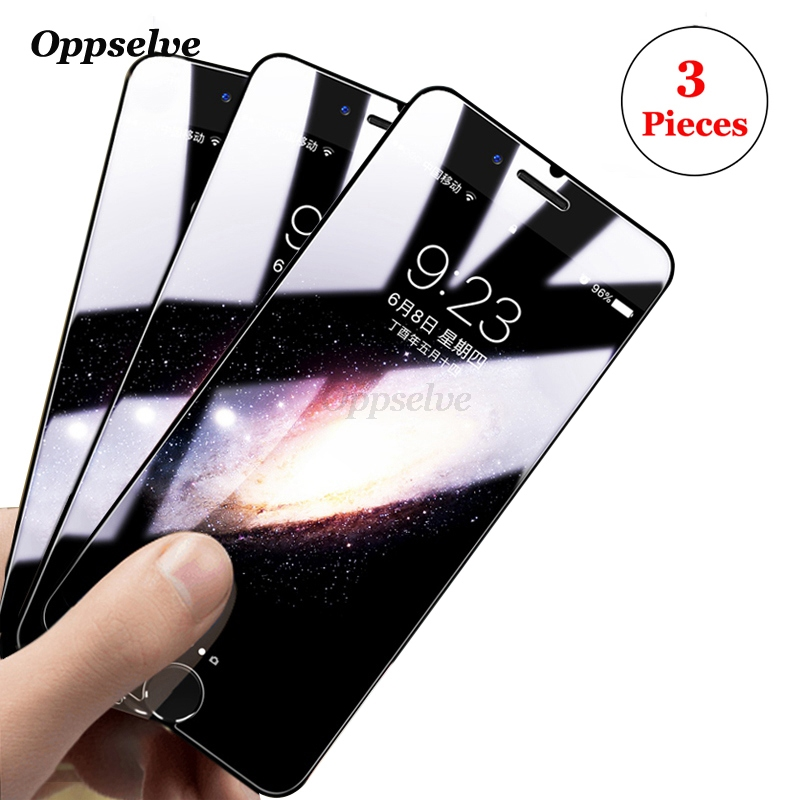 3PCS Screen Protector Tempered Glass For iPhone 8 7 6 s Plus Non Full Cover Protection Anti Blue Toughened Glass Film For iPhon8