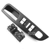 Black Driver Side Trim Master Window Switch Panel Trim MK5 For VW Jetta 1K4 868 049 C 81U 1K4868049C & switch 1K4 959 857 B
