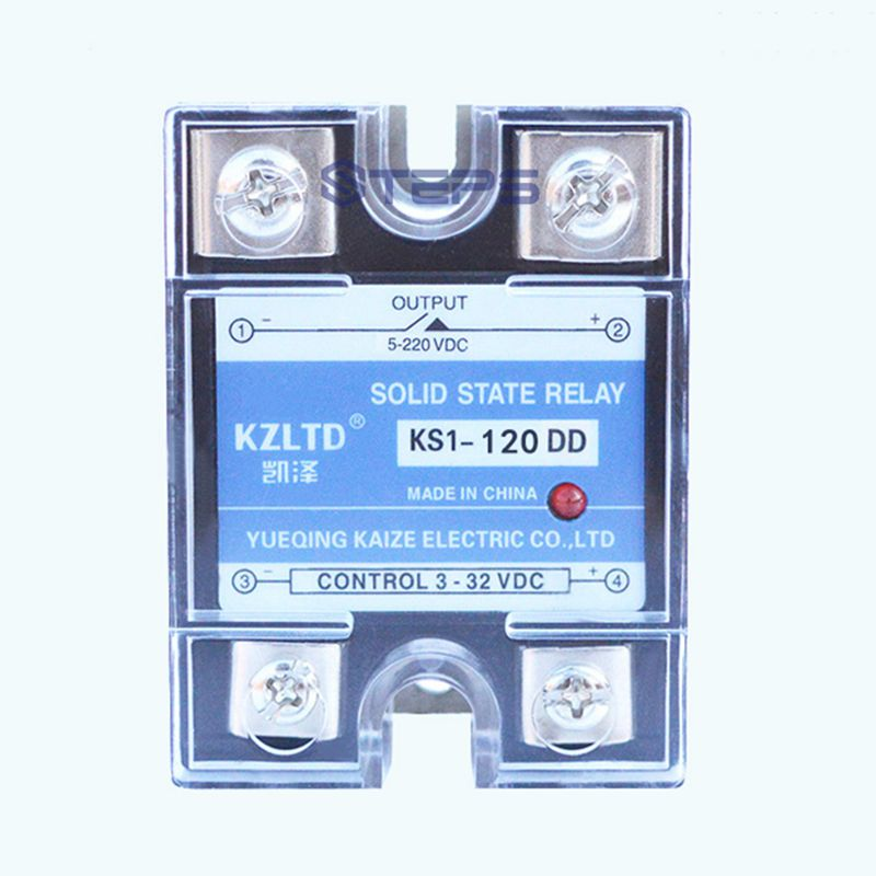 SSR DC solid state relay 120A DC to DC non-contact switch relay normally open single phase solid state relay ssr mgr 1 d48120 120a control dc ac 24 480v