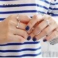 TARDOO Jogo Mix Clássico Prata Esterlina Amor Anéis de Punho para mulheres & Menina Pérolas Genuínas Moda Abrir Anel AAA Belas jóias