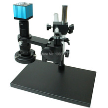 Buy HDMI HD USB Digital Industry Video Microscope Camera Set+Big Boom Stereo Table Stand+180X C-MOUNT Lens+LED Light