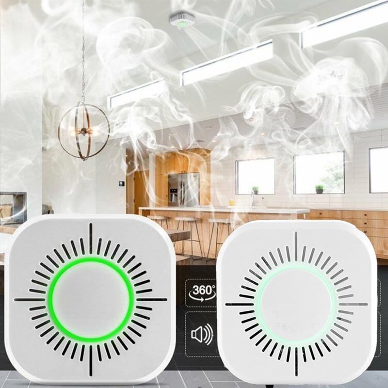 1 Pcs HomeKit Smoke Detector Wireless 433 MHz Fire Security Alarm Sensor For Smart Home Automation&Working With Sonoff RF Bridge