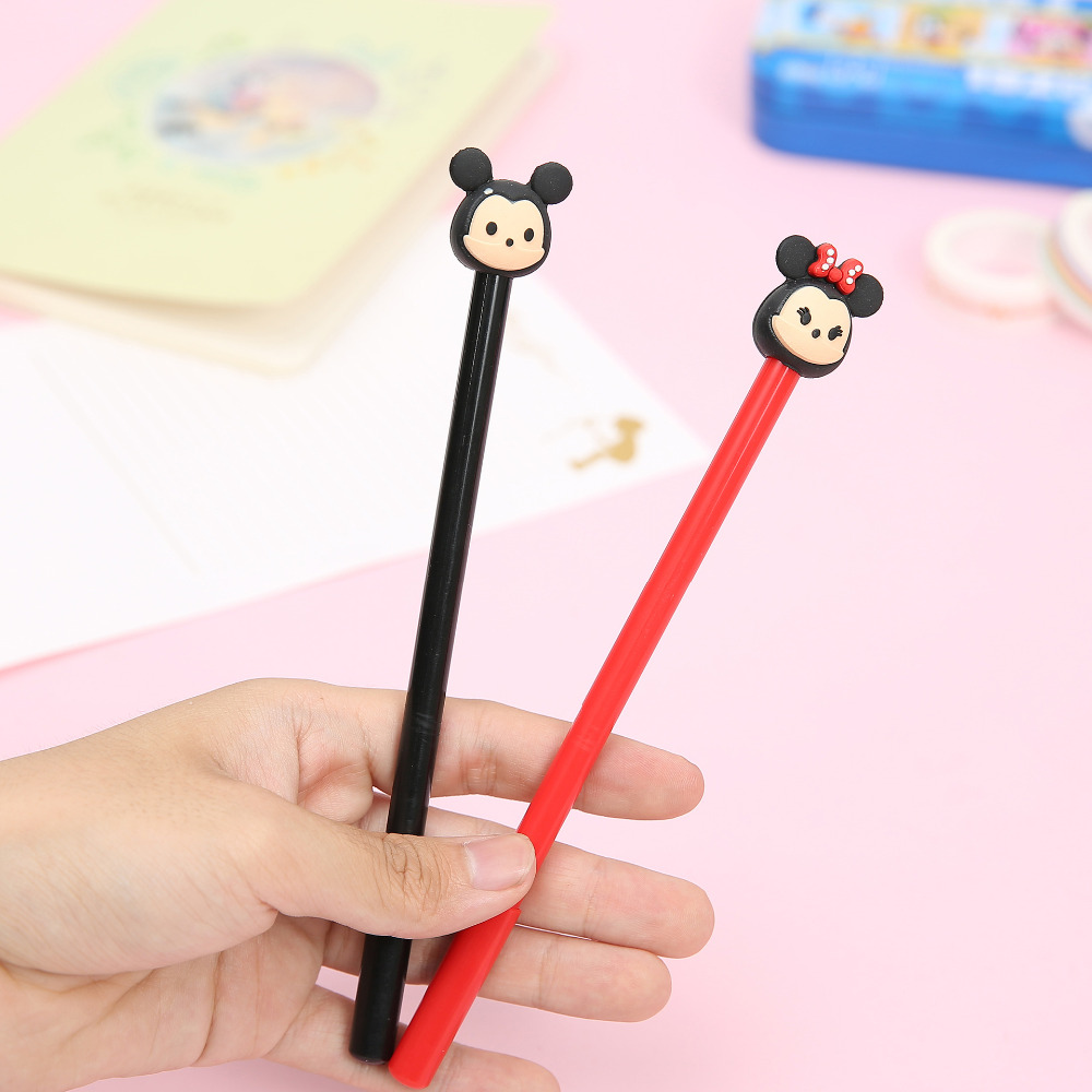 2X-Kawaii--Minnie-Silicone-Head-Gel-Pen-Rollerball-Pen-School-Office-Supply-Student-Stationery-0
