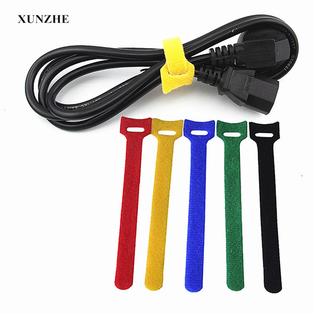 XUNZHE Sticking Tape 100Pcs Cable Ties with Eyelet Holes organizer