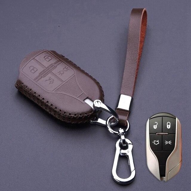 Genuine Leather Car Key Fob Case for Maserati Quattroporte Ghibli ...