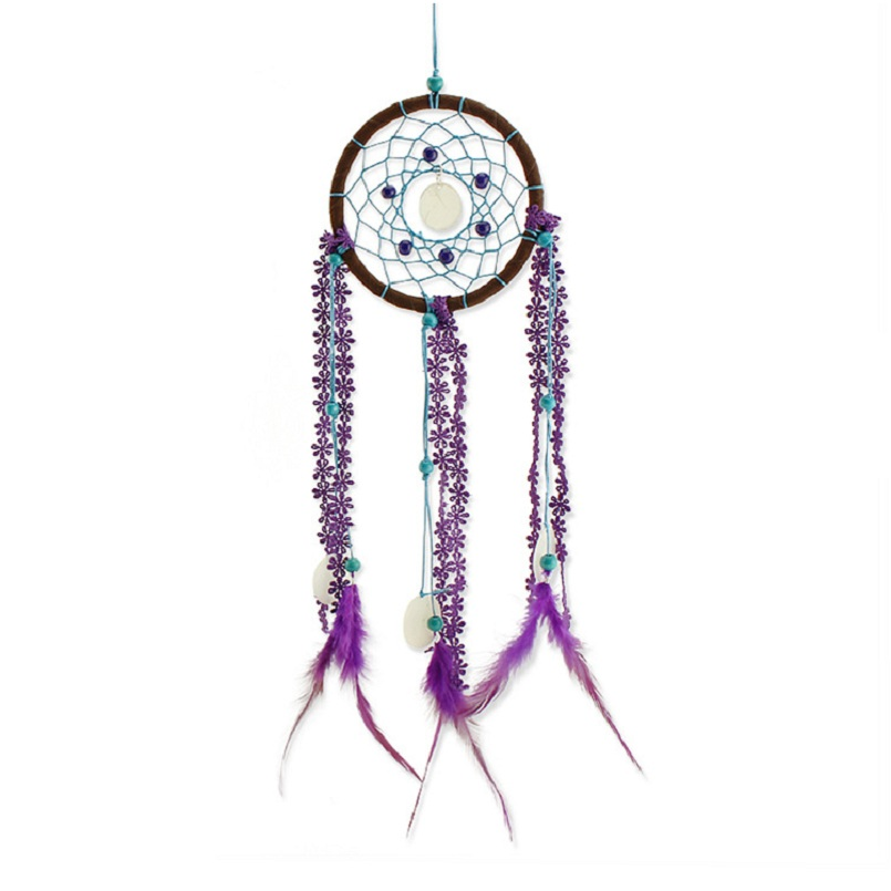 ᗛBeautiful Dream Catcher tejida a mano Dreamcatcher con plumas de ...