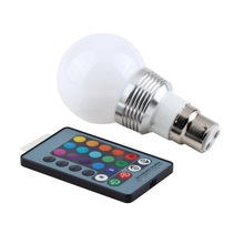 High Quality 1pcs 3W B22 16 Colors RGB LED Light Lamp Bulb W/ Remote Control 85-240V stylish