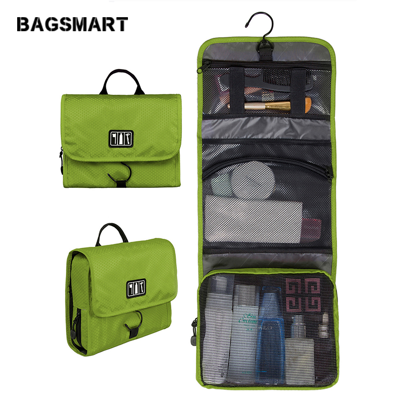 e381973e2fb8 BAGSMART Waterproof Travel Toiletry Bag With Hanger Cosmetic Packing Organizer  Wash Bag Makeup Bag Pack Your Luggage Suitcase