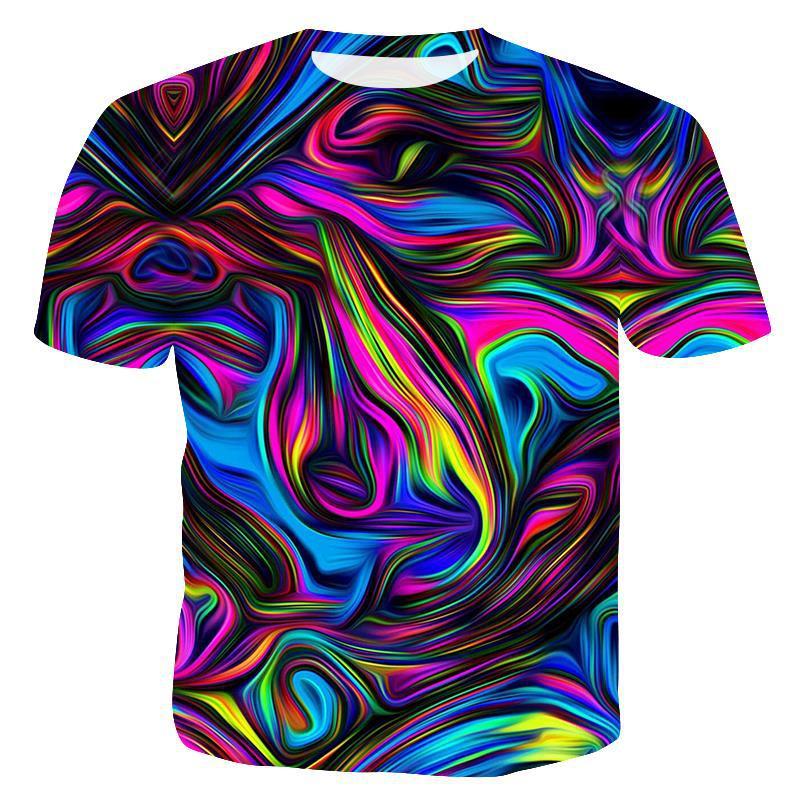 Мужская футболка с забавным принтом, Повседневная футболка с коротким рукавом и круглым вырезом, модная мужская 3D футболка/женская футболка, высокое качество, брендовая футболка - Цвет: T2