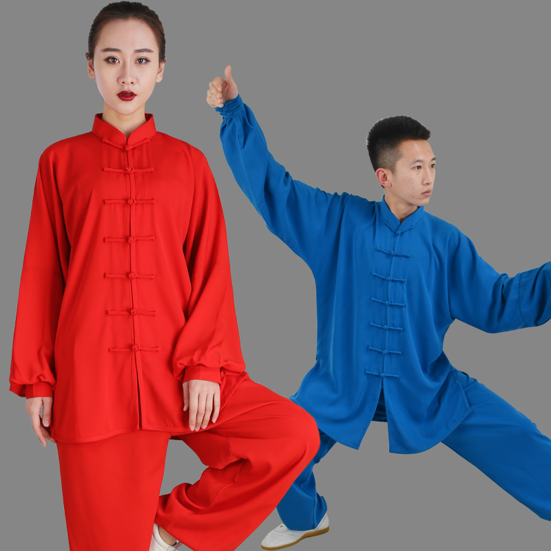 Tree Boxing Practice Spring Autumn Cotton Increase Silk Summer Quinquagenarian A Martial Art Performance Match Male Chinese