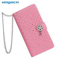 Luksusowa Bling Rhinestone Diament Glitter Skóra Klapka Portfel Skrzynki Pokrywa dla LG G2 G3 G5 Kart Stojak Phone Case dla Kobiet Dziewczyna