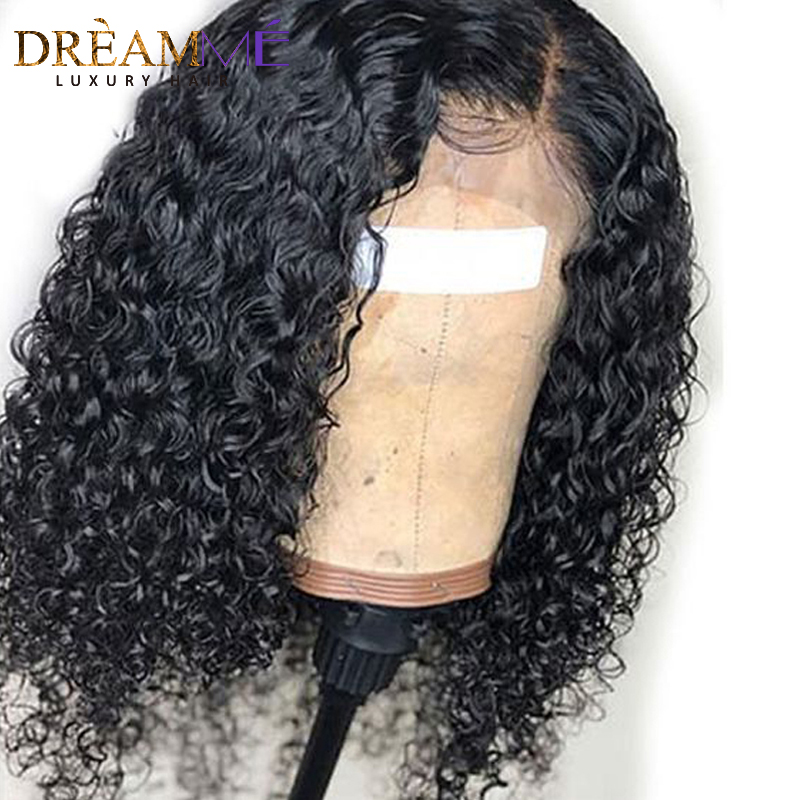 Short Curly Human Hair Bob Wig Full End 13X6 Lace Front Human Hair Wigs For Black