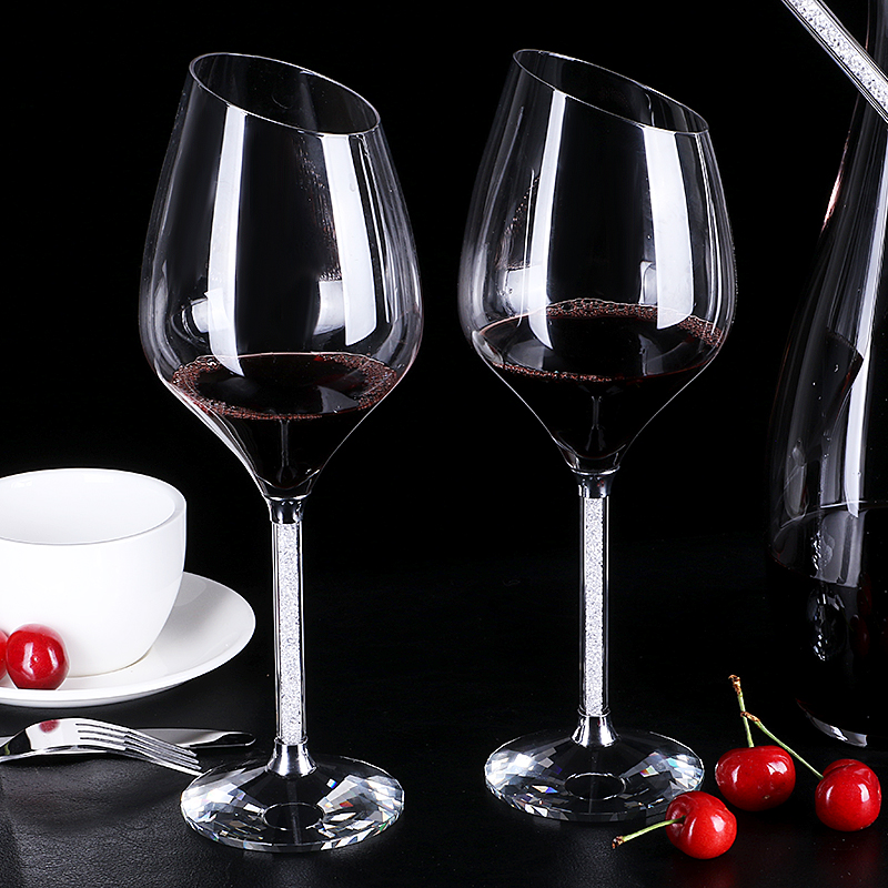 Crystal Red Wine Gles Bevel Gl Goblets Decorated Glware Wedding Decorations In From Home Garden On