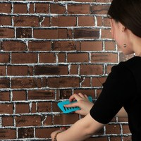 3D Vinyl Wall Paper Brick Stone Effect DIY Self adhesive Wall Stickers Home Decor Living Room Bedroom Waterproof Wallpaper Roll