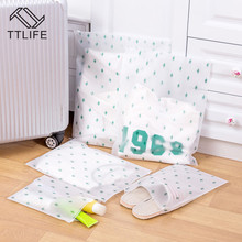 TTLIFE 5 Sizes EVA Cactus Transparent Matte Waterproof Travel Storage Bag Dust-proof Sealed Buckle Clothes