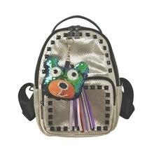 Lydztion белый Рюкзаки Оксфорд моды сумка Горячие Стиль Новый Новинка 2017 года Для женщин сумка Колледж небольшой рюкзак Заклёпки блестящие сумки
