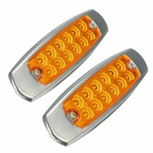 1 Pair 12 LED Side Marker Lights Universal 12V 24V Truck Trailer Lorry Turn Lamp