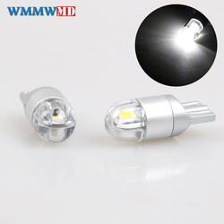 2 pièces haute qualité T10 W5W 3030 LED voiture intérieur lumière marqueur lampe 168 WY5W SMD LED Auto Wedge ampoules blanc rouge bleu jaune 12 V