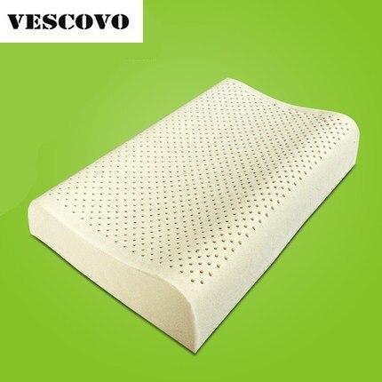 Thailandia 100% originale lattice naturale cuscino di schiuma filler collo sano cuscino-in Cuscini da letto da Casa e giardino su  Gruppo 1