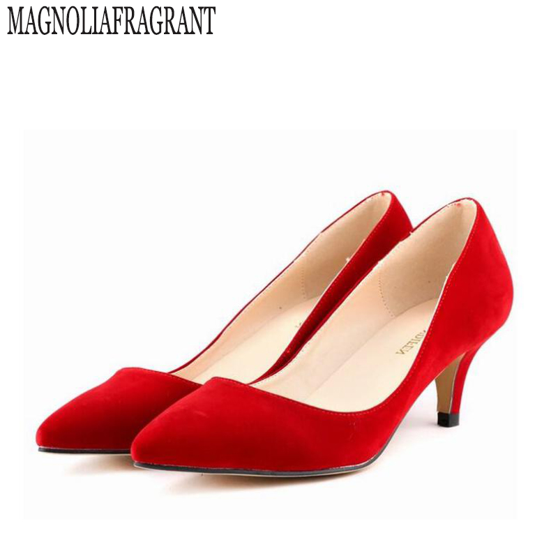 Genuine large size single toe head high heels shallow mouth thin heel velvet shoeS woman star with w824 genuine large size single toe head high heels shallow mouth thin heel velvet shoes woman star with w824